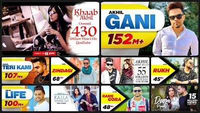 Top 10 Most Popular Songs by Akhil
