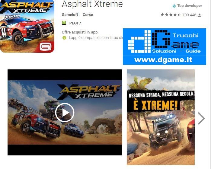 Trucchi  Asphalt Xtreme Mod Apk Android v1.0.8a