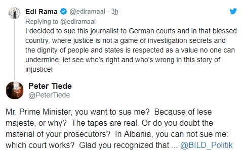 Rama: I have decided to sue the BILD journalist, Peter Tiede reacts