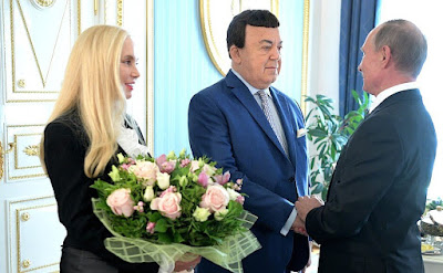 Vladimir Putin congratulated Iosif Kobzon on his 80th birthday. Left: Ninel Kobzon, the singer's wife.