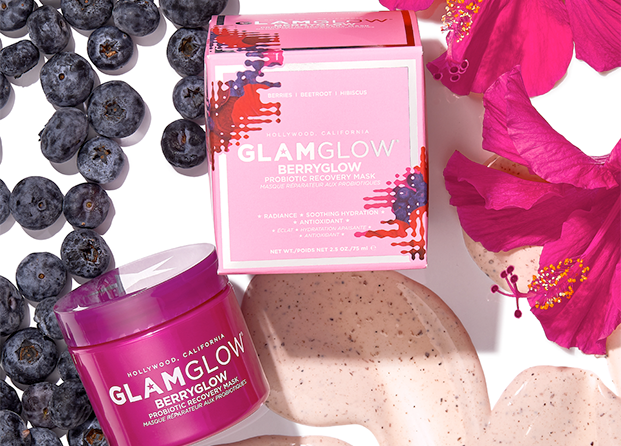 Mascarilla Berryglow Probiotic Recovery Mask de Glamglow