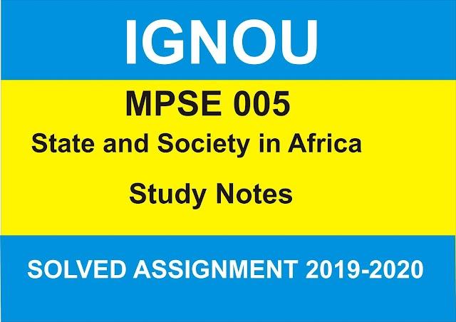 MPSE 005 Study Notes