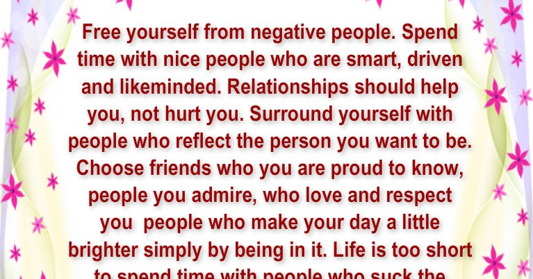 Free Yourself From Negative People Quote: Awesome Quotes: Free Yourself From Negative People