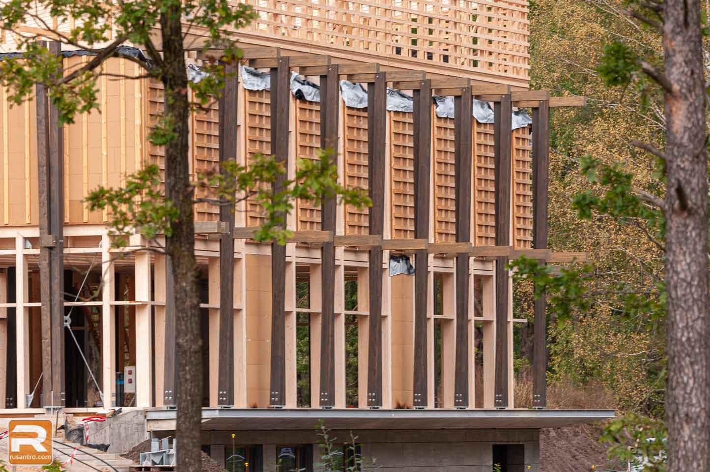 Koka biroja ēka Jelgavā būvniecība 3