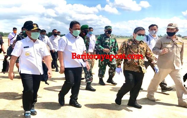 Gubernur H Sugianto Sabran Sambut Wamenhan dan Wamen LHK Kunjungi Kalteng