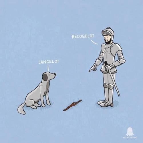 Meme de humor sobre mitos artúricos