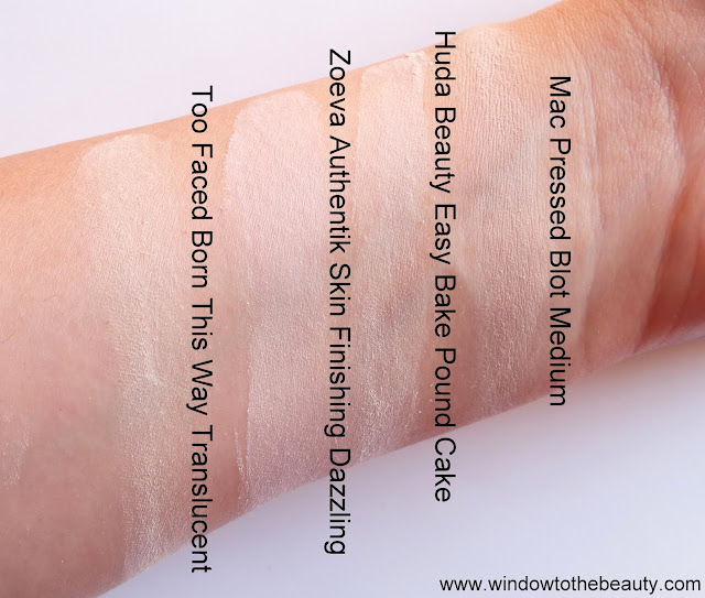 Too Faced Born This Way Translucent swatches