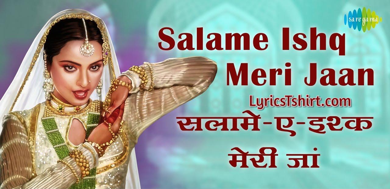 Salame Ishq Meri Jaan Lyrics In Hindi