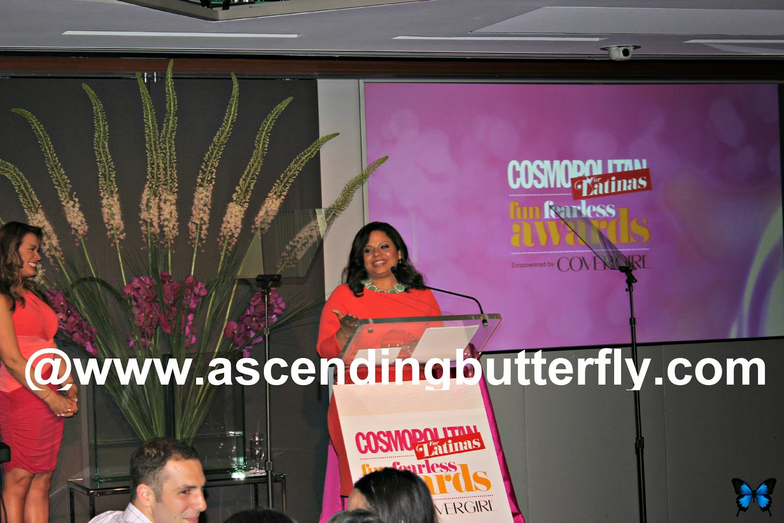 Melina Garcia, Founder of Union City Music Project accepts a Cosmopolitan for Latinas Fun Fearless Award in New York City