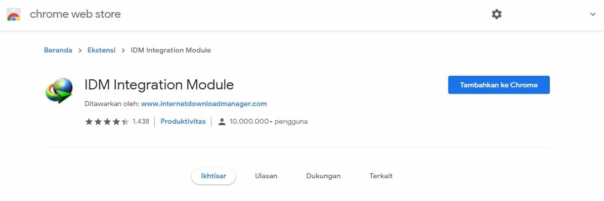 Cara Memasang Ekstensi IDM di Browser Chrome