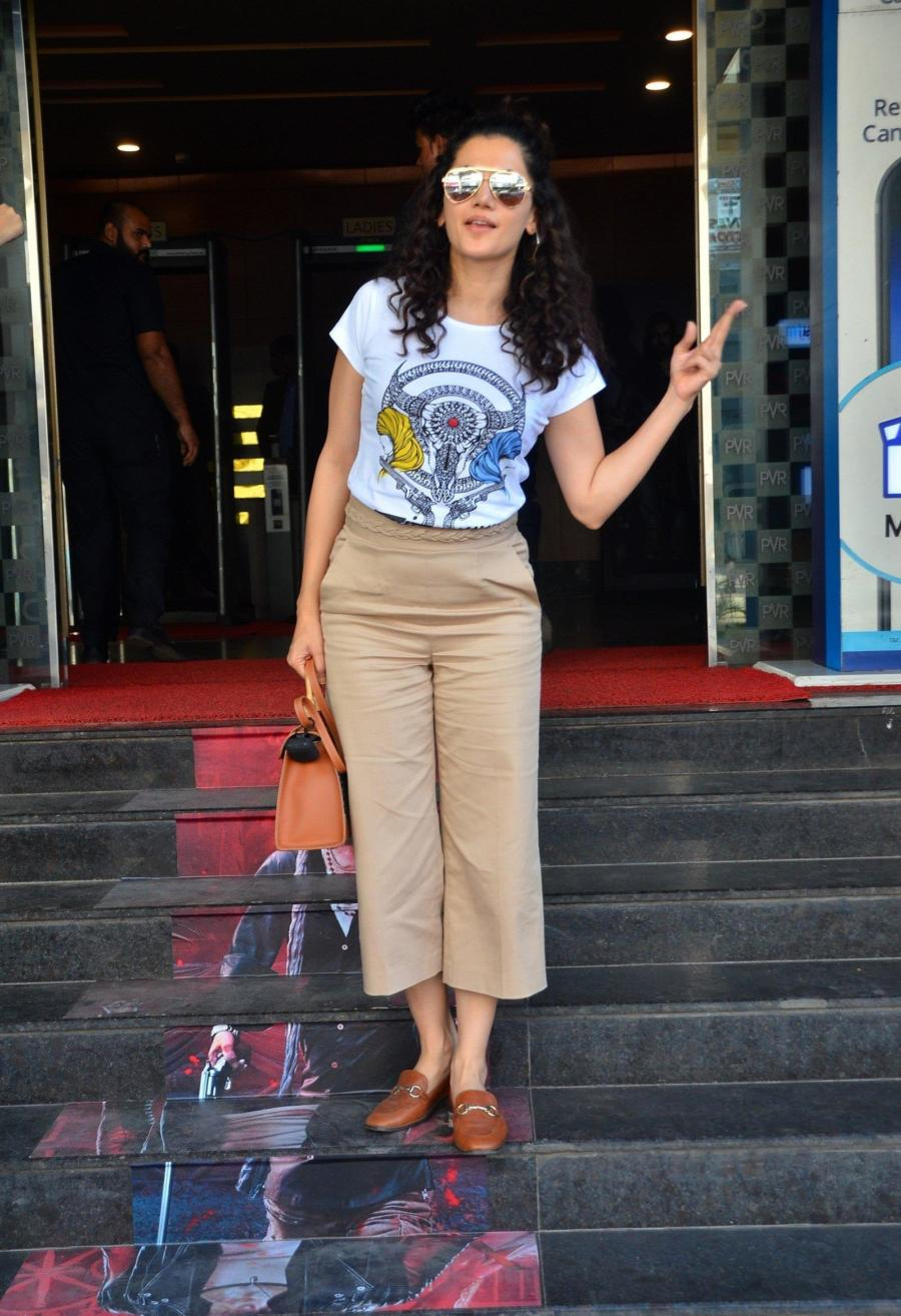 Beautiful Indian Girl Taapsee Pannu Spotted At Pvr Ecx