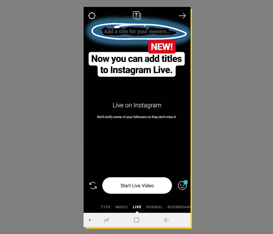 Instagram Tests New Title Option for Live Videos