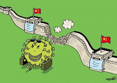 Коронавирус, китайский вирус, рисунок, карикатура, картинки