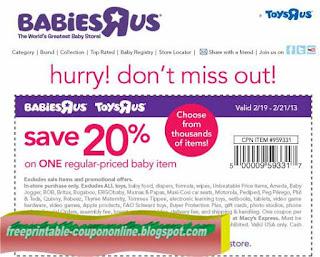 Free Printable Toys R Us Coupons