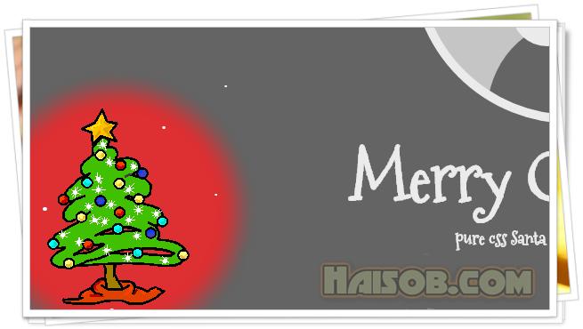 Christmas tree widget for Blogger