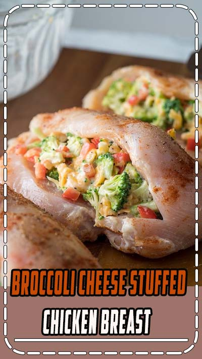 Broccoli Cheese Stuffed Chicken Breast is filled with a simple broccoli cheese mixture, seared in a skillet, then baked to perfection.