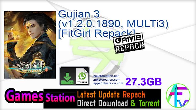 Gujian 3 (v1.2.0.1890, MULTi3) [FitGirl Repack]