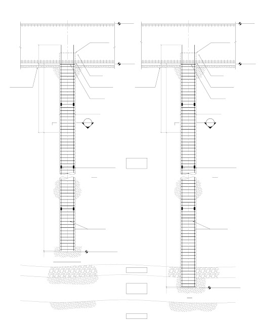Blueprint of two testing piles of Kingdom Tower, world's tallest building under construction in Jeddah, Saubi Arabia