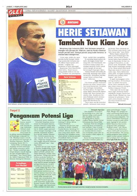 LIGA INDONESIA BANK MANDIRI 2002: BINTANG HERIE SETIAWAN