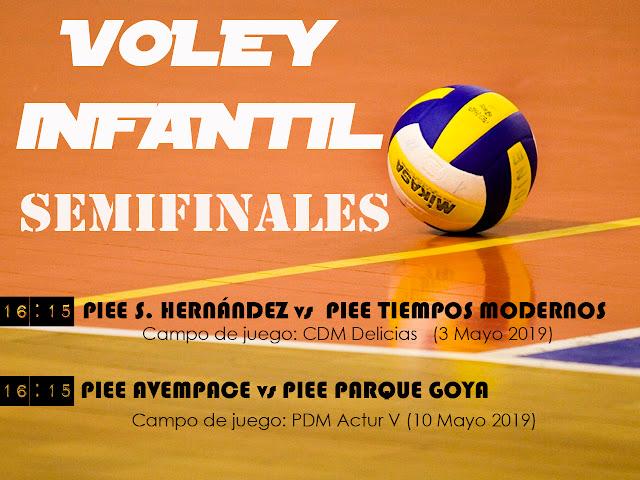 VOLEY INFANTIL: Comienza las semifinales y los partidos por los puestos 5º y 6º
