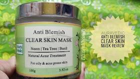 Auravedic Anti-blemish Face mask (Neem, teatree , Basil) Review