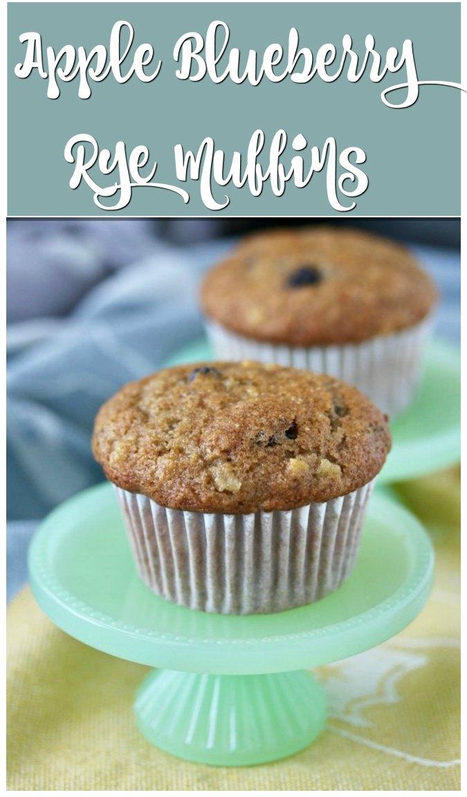 Apple Blueberry Rye Muffins