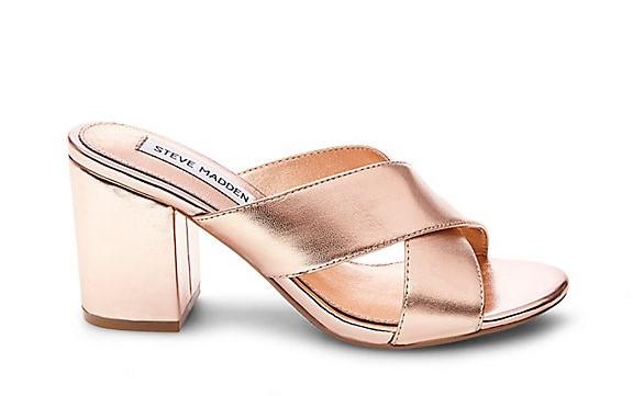 Steve Madden Rose Gold Campos Mule Sandal