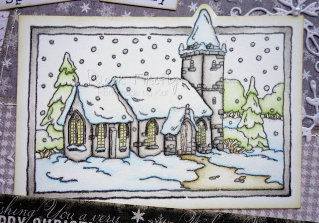 Snowy church Christmas card (image from LOTV)