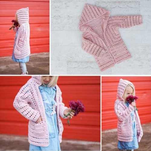 Girls Crochet Cardigan - Free Pattern