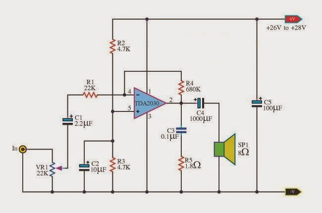 power amplifier genneral purpose by ic tda2030