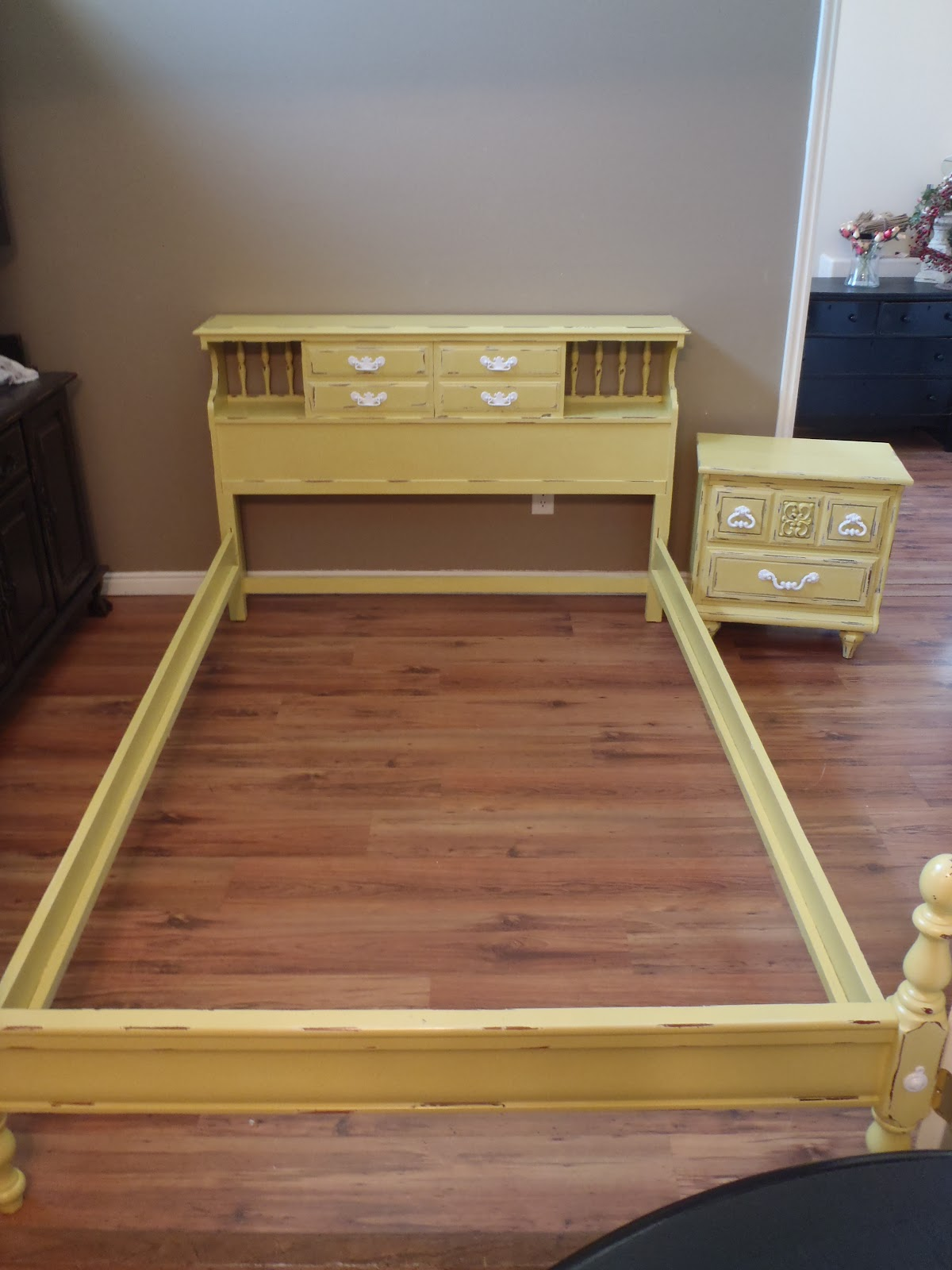 Lost N' Found Furniture: Full Sized Bed And Nightstand