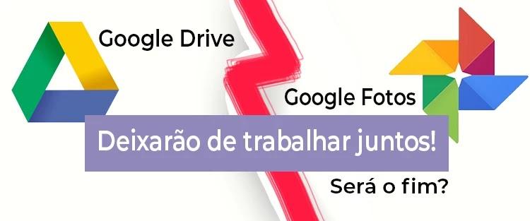 Google Drive e Google Fotos acabam a parceria