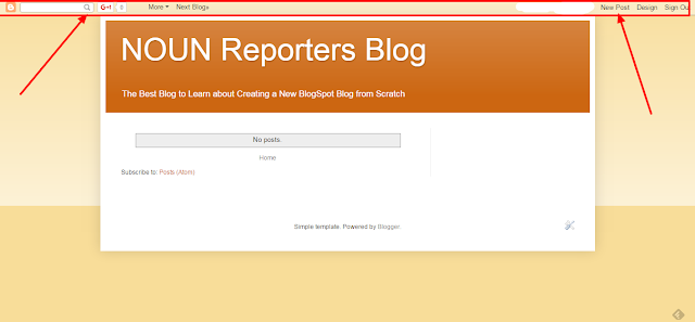 NOUN Reporters Blog Nav Bar