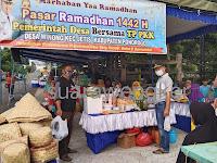 Pemerintah desa dan TP PKK Desa Winong kecamatan Jetis adakan pasar Ramadhan 1442 H/ 2021 M