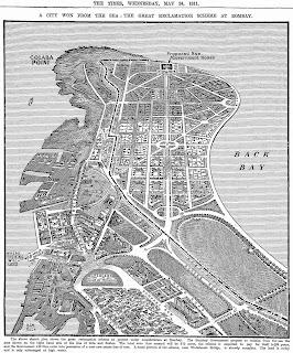 Mumbai's reclamation and original plan for Colaba