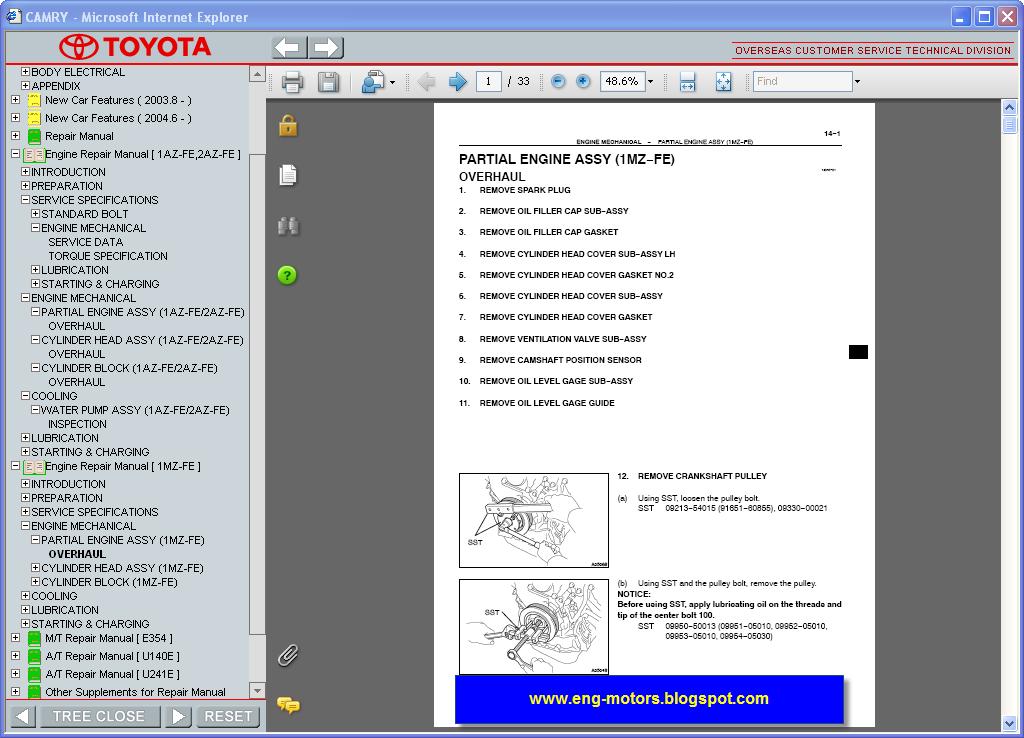 Toyota Camry Service Manual  U0635 U064a U0627 U0646 U0629  U0643 U0627 U0645 U0631 U0649