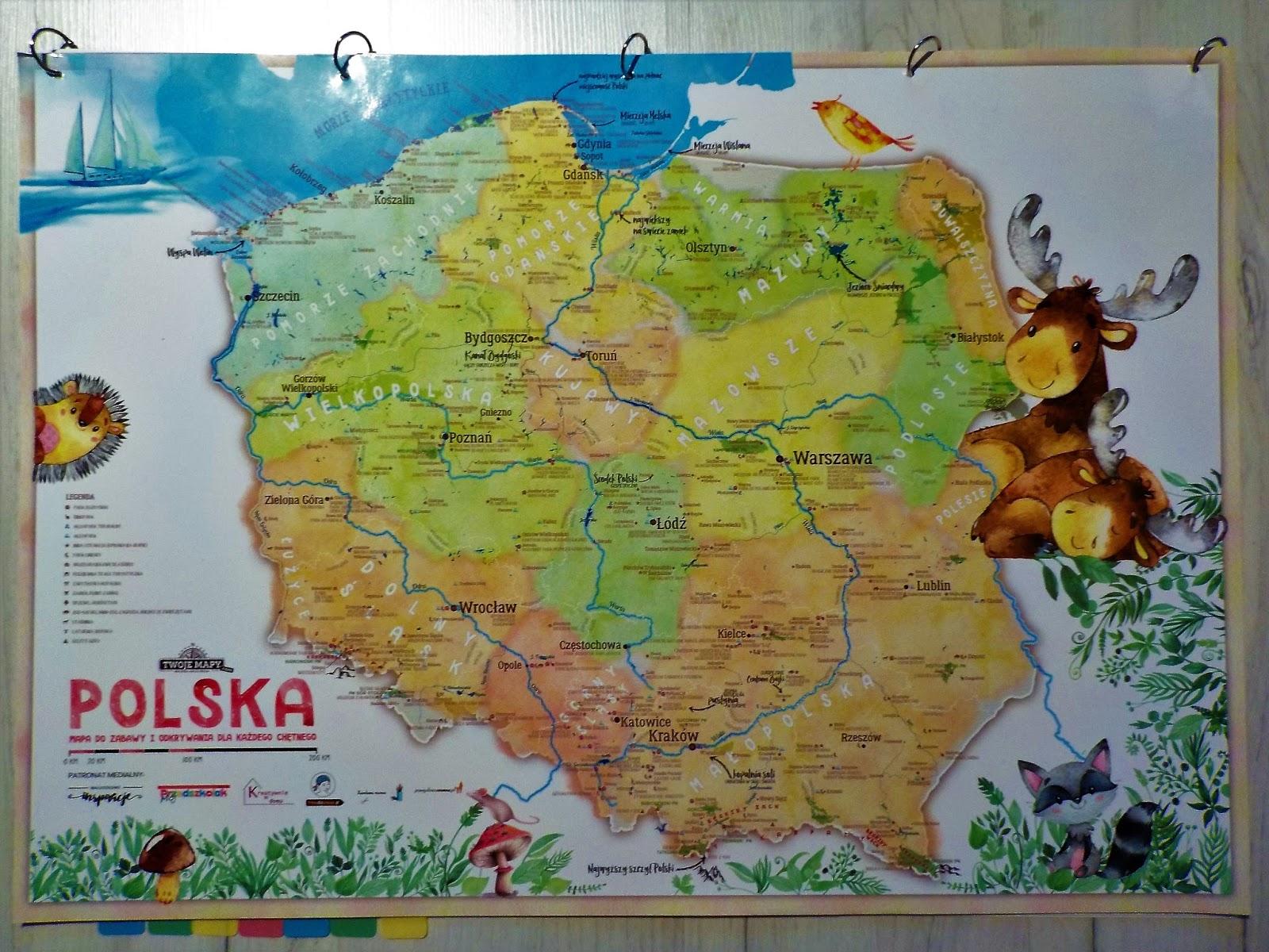 Mapa Polski Dla Dzieci Twoje Mapy