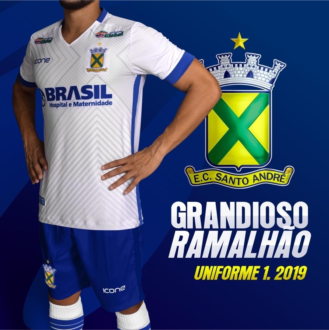 Ícone Sports lança as novas camisas do Santo André - Show de Camisas 7553c3fd4c442