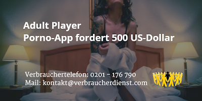 Adult Player | Porno-App fordert 500 US-Dollar