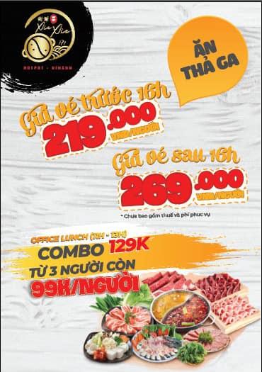 (QC) (Tân Bình) Buffet lẩu băng chuyền Thượng Hải tại XIE XÌE HOTPOT - BUFFET - DIMSUM 502-504 Cộng Hòa, Phường 13, Quận Tân Bình