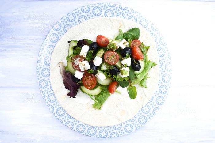Greek Salad Lunch Wrap