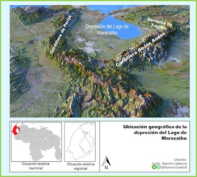 Ubicación geográfica de la depresión del Lago de Maracaibo