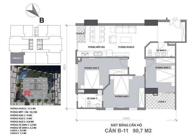 Thiết kế căn hộ B Start Up Tower