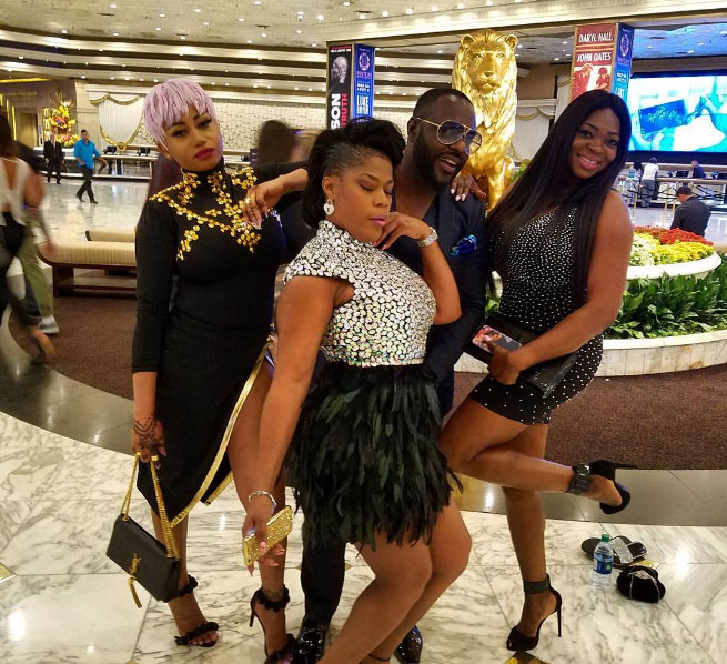 "Actor Jim Iyke hangs out with his ""sisters"" in Las Vegas, USA"