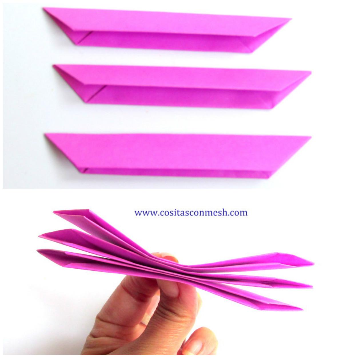 son piezas los que necesitamos para hacer una flor de papel las juntamos las piezas
