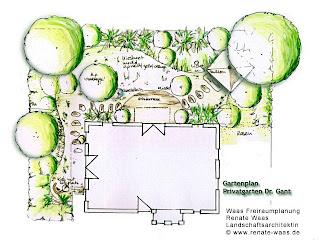 Pflegeleichter Garten, schön, pflegeleicht mit Blumenbeeten