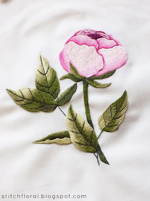Needlepainting for beginners Peony
