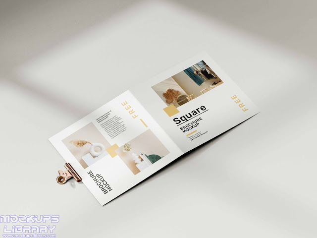 folded square brochure mockup 5