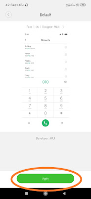 Change dial pad layout in miui themes for mi