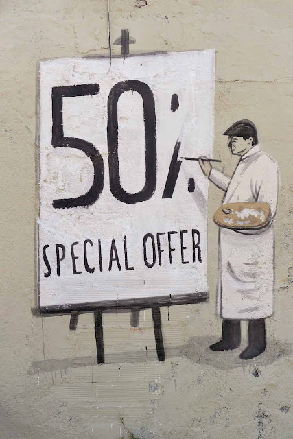 Street Art Pieces By Escif In Barcelona, Spain. 50% special offer close up